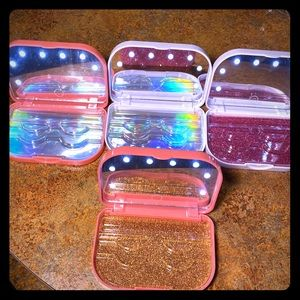 COPY - LED EYELASH LIGHT CASES!✨PINK AND SILVER!